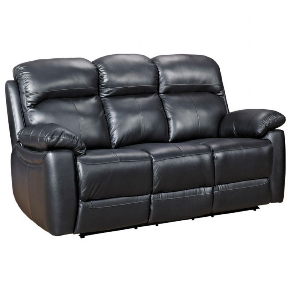 Home Essential TSA-303 -Black leather Sofa
